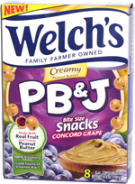 Welch's PB & J Bite Size Snacks Concord Grape