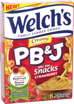 Welch's PB & J Bite Size Snacks Strawberry