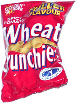 Golden Wonder Wheat Crunchies Spicy Tomato Flavour