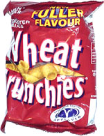 Golden Wonder Wheat Crunchies Worcester Sauce Flavour