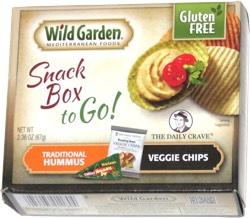 Wild Garden Mediterranean Foods Snack Box to Go! Traditional Hummus Veggie Chips