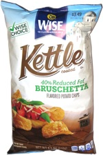 Wise Kettle Cooked 40% Reduced Fat Bruschetta Flavored Potato Chips
