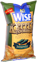 Wise Kettle Cooked Potato Chips Jalapeno
