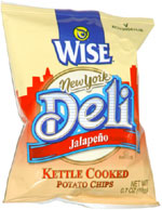 Wise New York Deli Jalapeño Kettle Cooked Potato Chips