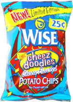 Wise Cheez Doodles Cheese Flavored Potato Chips