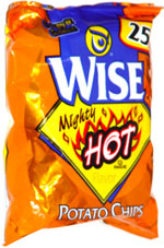 Wise Mighty Hot Potato Chips