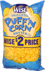 Wise Hulless Puff'n Corn Butter