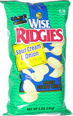 Wise Ridgies Sour Cream & Onion