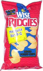 Wise Ridgies Mesquite Bar-B-Q Potato Chips