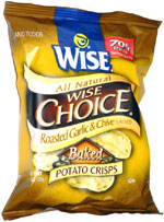 Wise Choice Roasted Garlic and Chive Baked Potato Crisps