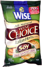 Wise Choice Italian Herbs Baked Soy-Potato Crisps