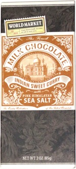 World Market Milk Chocolate Indian Sweet Curry with Pink Himalayan Sea Salt