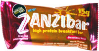 Zanzibar High Protein Breakfast Bar Strawberry Swirl