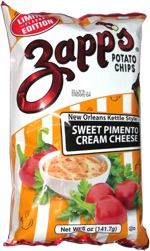 Zapp's Potato Chips Sweet Pimento Cream Cheese