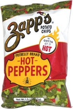 Zapp's Potato Chips Potbelly Brand Hot Peppers