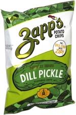 Zapp's Potato Chips Potbelly Brand Dill Pickle
