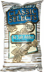 Aunt Lisa's Classic Selects No Salt Added Hearty Potato Chips