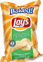 Baked Lay's Sour Cream & Onion Potato Crisps