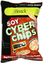 iSnack Soy Cyber Chips Apple Cinnamon