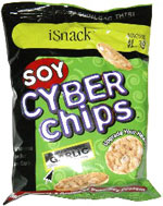 iSnack Soy Cyber Chips Roasted/Toasted Garlic & Onion