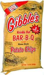 Gibble's Krinkle Kut Bar-B-Q Potato Chips