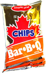 Maple Leaf Bar-B-Q Chips