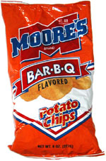 Moore's Bar-B-Q Flavored Potato Chips