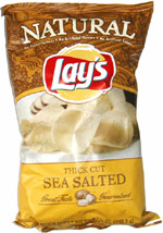 Lay's Natural  Thick Cut Sea Salted Potato Chips