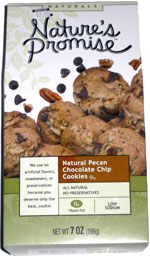 Nature's Promise Natural Pecan Chocolate Chip Cookies
