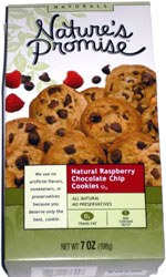 Nature's Promise Natural Raspberry Chocolate Chip Cookies