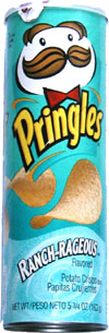Pringles Ranch-Rageous Flavored Potato Crisps