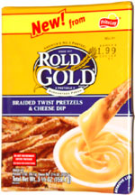 Rold Gold Braided Twist Pretzels & Cheese Dip