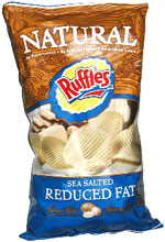 Ruffles Natural Sea Salted Reduced Fat Potato Chips