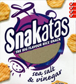 Snakatas Sea Salt & Vinegar Rice Snacks