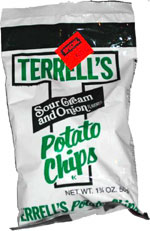 Terrell's Sour Cream and Onion Flavored Potato Chips