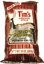 Tim's Cascade Style Cracked Peppercorn Potato Chips