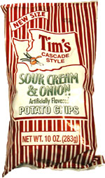 Tim's Cascade Style Sour Cream & Onion Potato Chips