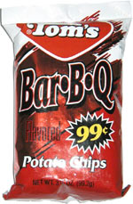 Tom's Bar*B*Q Potato Chips