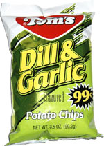 Tom's Dill & Garlic Potato Chips