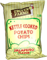 Troyer Farms Kettle Cooked Potato Chips Jalapeño Flavor