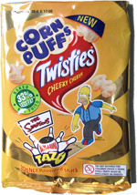 Twisties Cheeky Cheese Corn Puffs