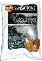 Walkers Sensations Sea Salt and Cracked Black Pepper Flavour Crisps