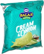 Balaji Wafers Cream & Onion