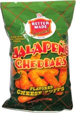 Better Made Special Jalapeño Cheddars Flavored Cheese Puffs
