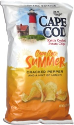 Cape Cod Summer Cracked Pepper and a Hint of Lemon Potato Chips