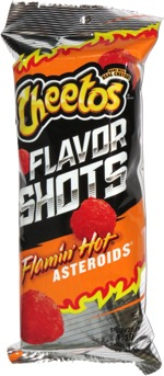 Cheetos Flavor Shots Flamin' Hot Asteroids