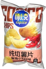 Copico Fresh-Cut Potato Chips Spicy Crayfish Flavor