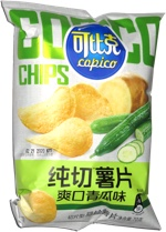 Copico Fresh-Cut Potato Chips Cucumber Flavor