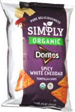 Simply Organic Doritos Spicy White Cheddar