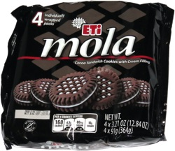 Mola Cocoa Sandwich Cookies with Cream Filling